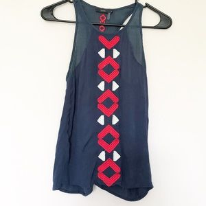THML Embroidered Blue, Red, & White Racerback Tank